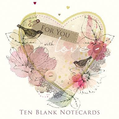 Blank Cards - Pack of 10 - Peony Rose