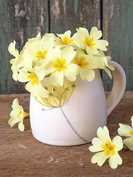 Blank Cards - Pack of 4 - Primroses In A Jug
