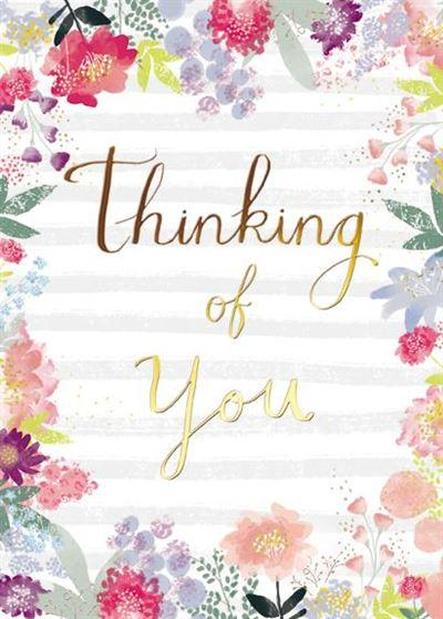 Thinking of You Card - Flowers