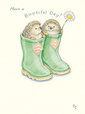 Children's Birthday Card - Bootiful Day