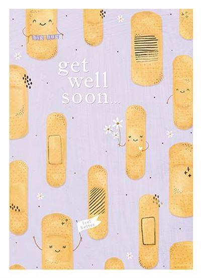 Get Well Soon Card - Plaster
