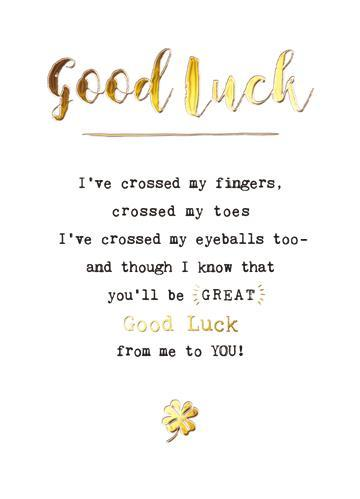 Good Luck Card - Crossed My Fingers