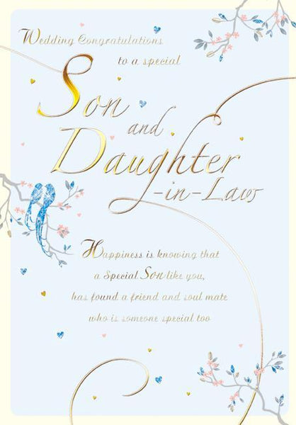 Wedding Card - Son and Daughter-in-Law - Blue Doves