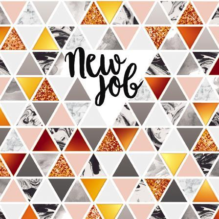 New Job Card - Geometric Pattern