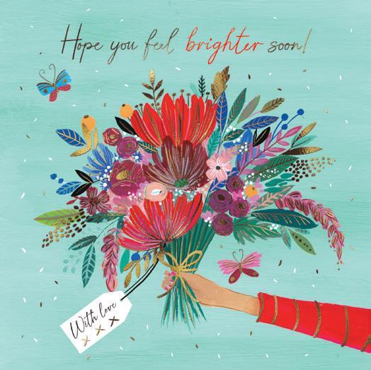 Get Well Soon Card - Bright Bunch of Flowers