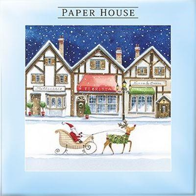 Christmas Cards - Pack of 10 - Christmas Streets