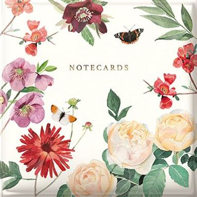 A Year In The Garden Notecard Wallet - Bees & Butterflies