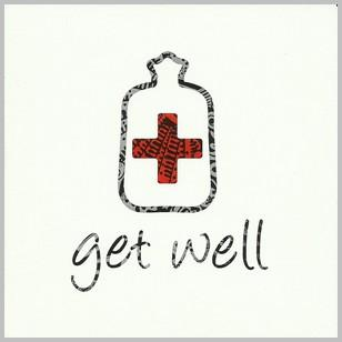 Get Well Soon Card - Medicine Bottle