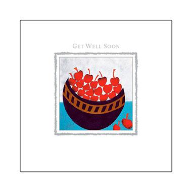Get Well Soon Card - Bowl Of Cherries