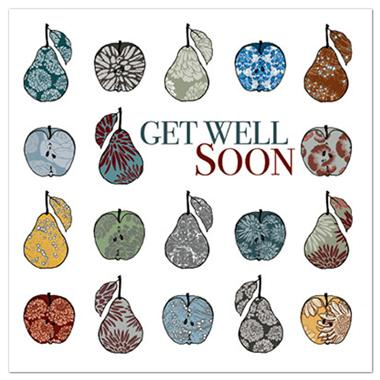 Get Well Soon Card - Apples & Pears