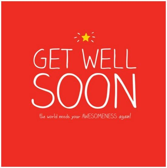 Get Well Soon Card - The World Needs Your Awesomeness again!