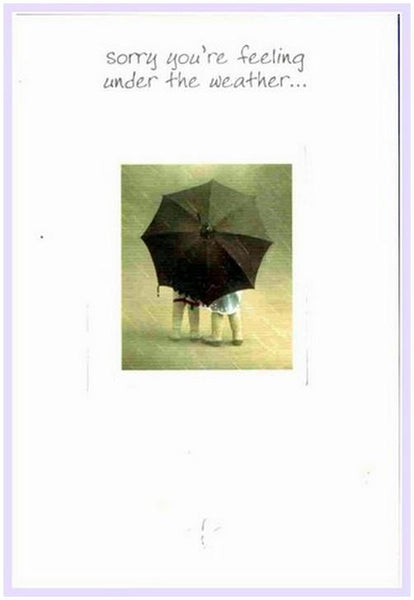 Get Well Soon Card - Children Under Umbrella