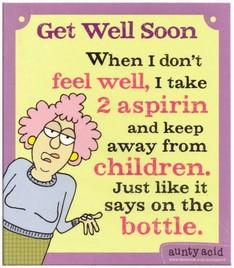 Get Well Soon Card - 2 Aspirin