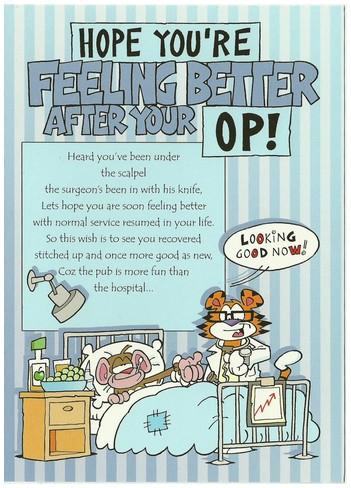 Get Well Soon Card - After Your Op!