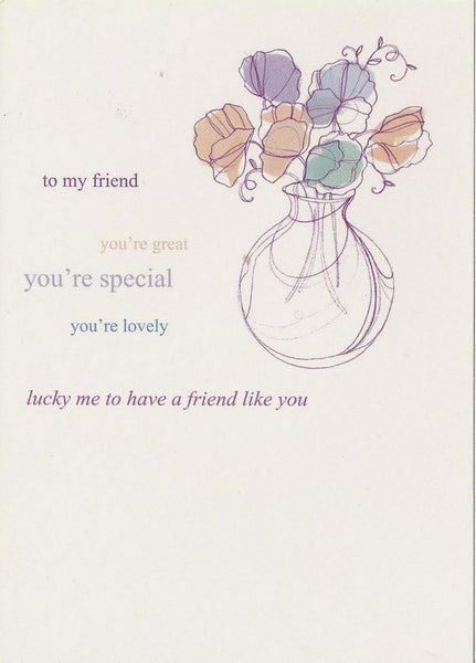 Birthday card - Friend - To My Friend