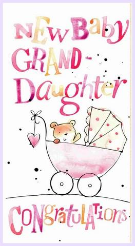 New Baby Card - Baby Granddaughter - Baby Granddaughter Text