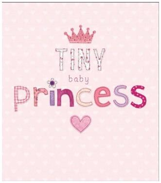New Baby Card - Baby Girl - Tiny Baby Princess