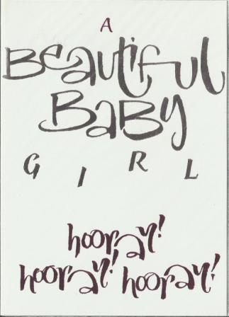New Baby Card - Baby Girl - Hooray!