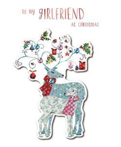 Christmas Card - Girlfriend - Reindeers