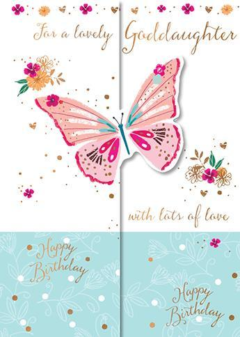 Goddaughter Birthday - Sweet Butterfly