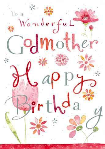 Godmother Birthday - Wonderful Godmother
