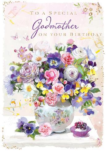 Godmother Birthday - Pansies And Ranunculuses