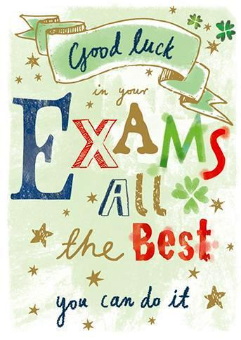 Good Luck Card - Exams - Large Text