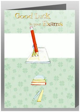 Good Luck Card - Exams - Large Red Pencil