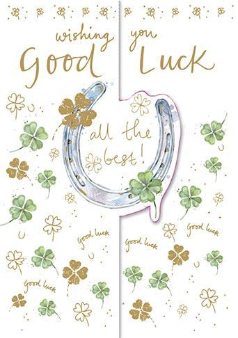 Good Luck Card - Horseshoe
