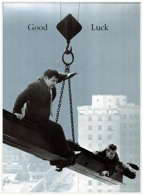 Good Luck Card - Laurel & Hardy
