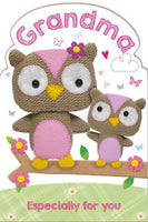 Grandma Birthday - Knitted Owls