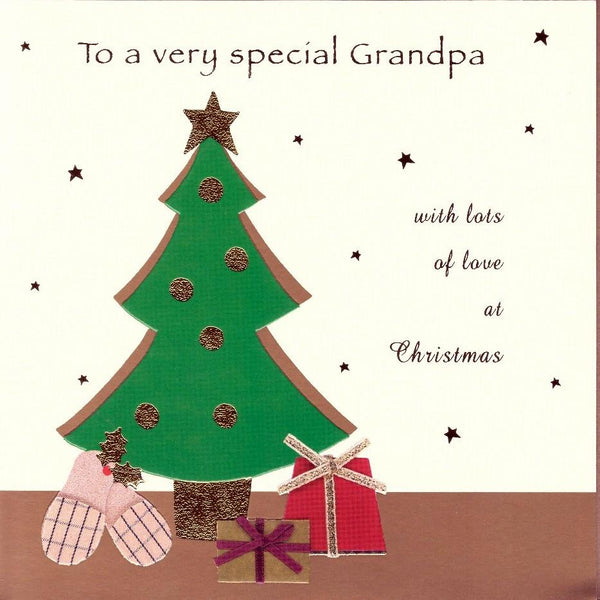Christmas Card - Grandpa - Presents Under The Tree