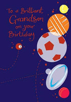 Grandson Birthday - Sports Balls
