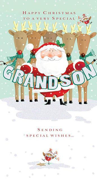 Christmas Card - Grandson - Greetings From Lapland