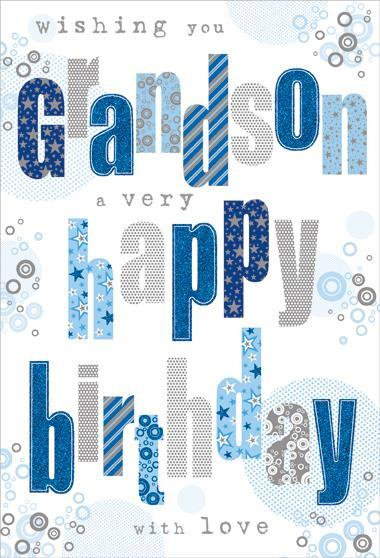Grandson Birthday - Holographic Text