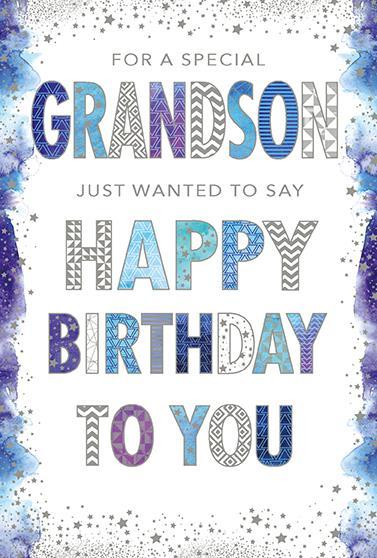 Grandson Birthday - Graphic Text