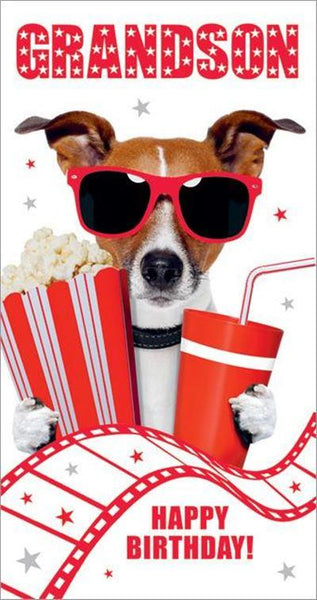 Grandson Birthday - Dog/Red Shades