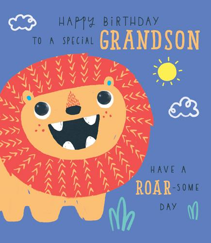 Grandson Birthday - Lion, Roar-Some Day