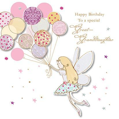 Great-Granddaughter Birthday - Fairy With Balloons