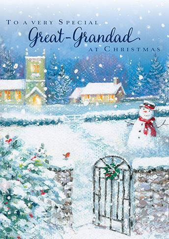 Christmas Card - Great-Grandad  - Let It Snow