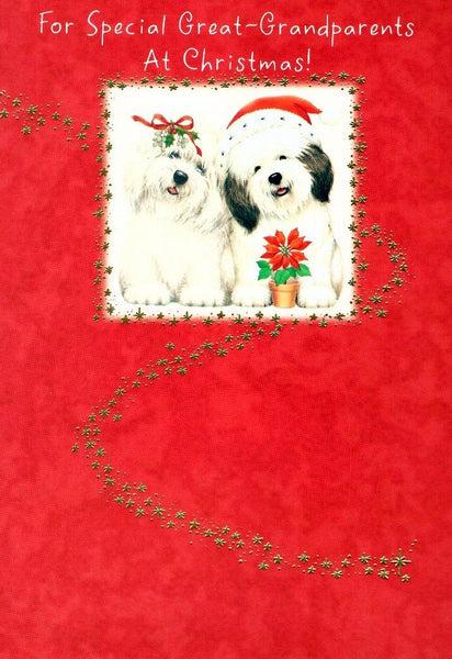 Christmas Card - Great-Grandparents - Christmas Dogs