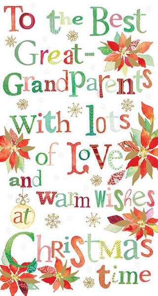 Christmas Card - Great-Grandparents - Text
