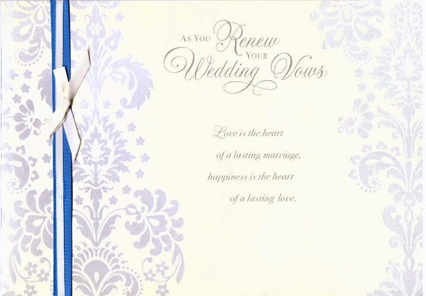 Wedding Card - As You Renew Your Wedding Vows