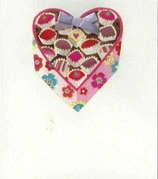 Blank Cards - Pack of 3 - Cakes In Heart Box