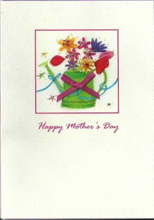 Mother's Day Card - Flowers in Watering Can