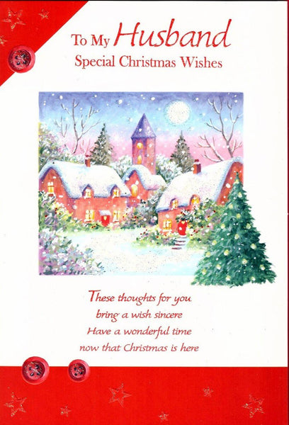 Christmas Card - Husband - Christmas Village