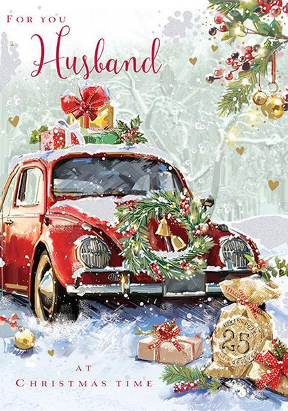 Christmas Card - Husband - Driving Home For Christmas