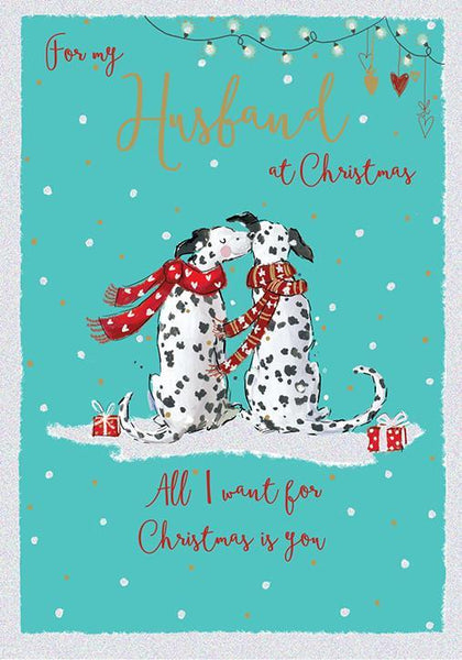 Christmas Card - Husband - Totally Dotty About You