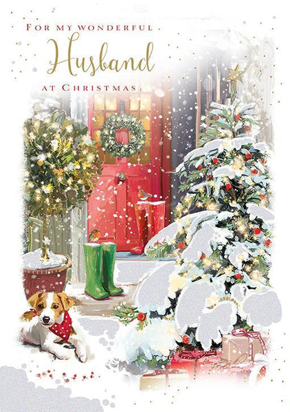 Christmas Card - Husband - Christmas Doorstep