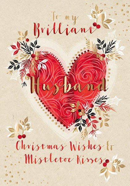Christmas Card - Husband - Husband Heart